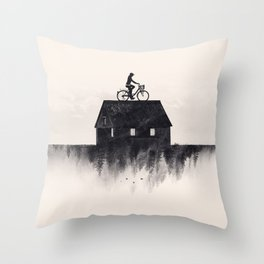 Ride Home (b&w) Throw Pillow