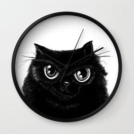 Sketch of my fat, black cat Wall Clock
