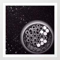 Space Eyes Art Print