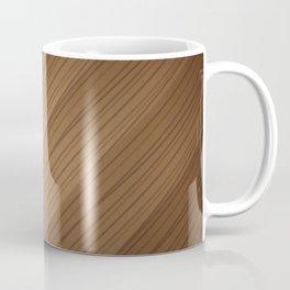 Slanted Texture On Wood Coffee Mug