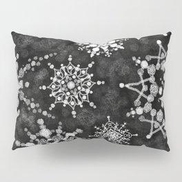 Gray Snowflakes Pillow Sham