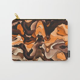 Wavy orange and brown Carry-All Pouch