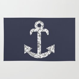 Marble Anchor in Navy Rug