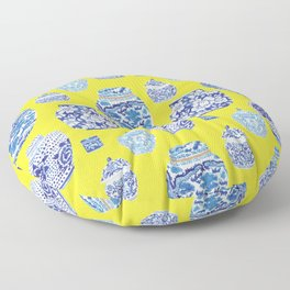 Chinoiserie Ginger Jar Collection No.2 Floor Pillow