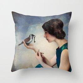 The Key to Wonderland Throw Pillow