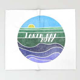Earth Day 2017 Throw Blanket