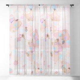 Terrazzo Crystals I. Sheer Curtain