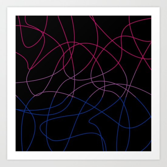 Abstract Threads – Bisexual Pride Flag by stephobrien