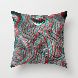 Pogonophobia Throw Pillow
