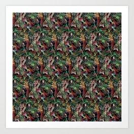Rainforest Corner - PATTERN Art Print