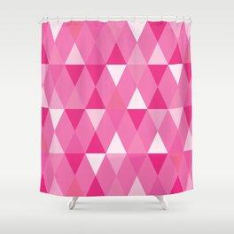 Harlequin Print Pinks Shower Curtain