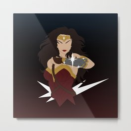 Woman of Wonder Minimalist Metal Print