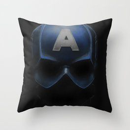 Capt America - Cowl Portrait Throw Pillow