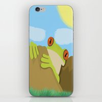 frog iPhone & iPod Skins featuring Frog by Nir P