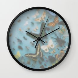 Butterflies and other insects. Wall Clock