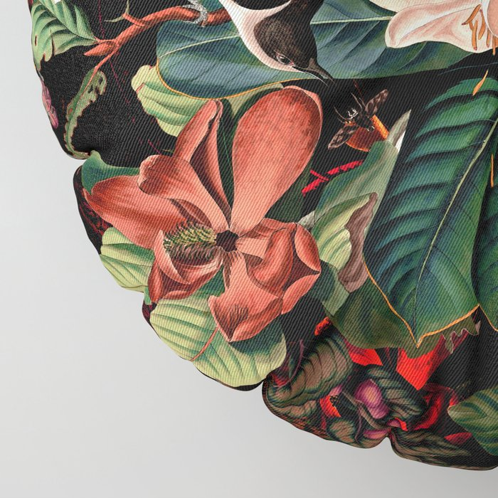 FLORAL AND BIRDS XIV Floor Pillow