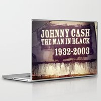 johnny cash Laptop & iPad Skins featuring Johnny Cash by Dan99