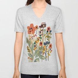 Among the Wildflowers Unisex V-Neck