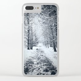 White Walk Clear iPhone Case