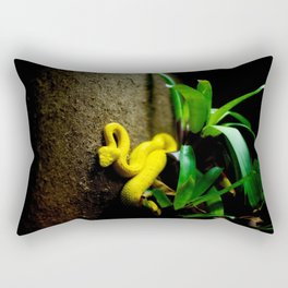 Yellow Snake Rectangular Pillow