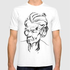 Old women MEDIUM Mens Fitted Tee White
