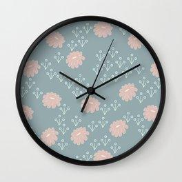 Yasmin: A Modern Floral Pattern Wall Clock
