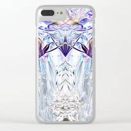 Diamond Light Consciousness Clear iPhone Case