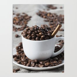 brown coffee beans Poster