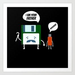 I Am Your Fathers Nooooo USB Floppy Disk Art Print