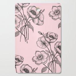 Palid Flowers  Cutting Board