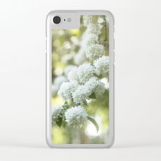 White Hydrangea at beautiful backlight- Flowers Floral Clear iPhone Case