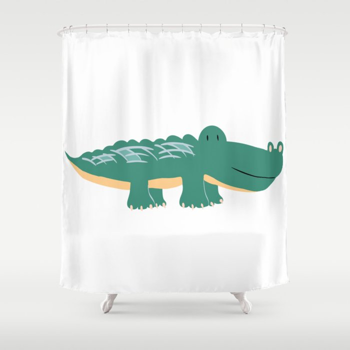 Alligator - Crocodile Shower Curtain