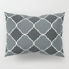 PPG Paint Night Watch Moroccan Tile Ornamental Pattern with White Border Pillow Sham