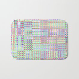 Delightful Preppy Geometric Patchwork Pattern Bath Mat