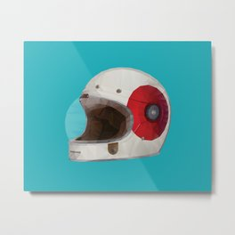 Bell Bullitt Cafe Racer Helmet Polygon Art Metal Print