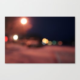 Colors Sing to Me on Snowy Nights Canvas Print