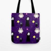 ghibli Tote Bags featuring Ghibli by KawaiiLily