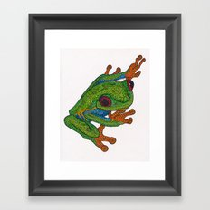 Stick Framed Art Print