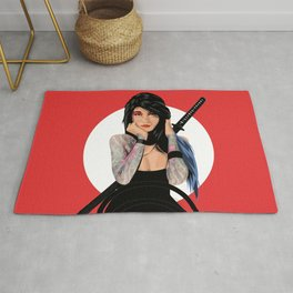 Samurai Warrior Girl - Lubna Rug