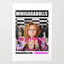 artRAVE minigadolls Art Print