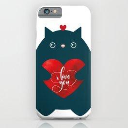 Cat In Love-I Love You-Cute Kitten Valentine Day iPhone Case