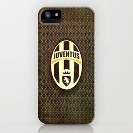 FC Juventus metal background iPhone Case