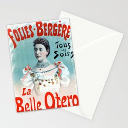 La Belle Otero aux Folies Bergère 1894 Stationery Cards