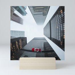 Canada Photography - Tall Sky Scrapers In Canada Mini Art Print