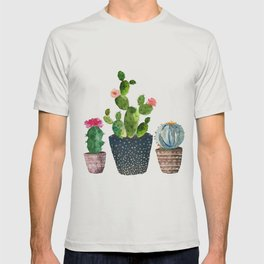 Watercolor cactus trio | hand painted cactus print T-shirt