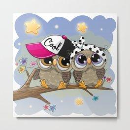Be Cool Owls Metal Print