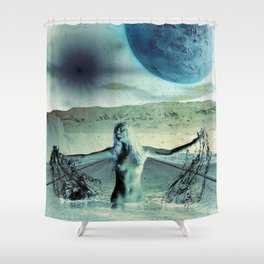 The Galaxy at the End of The Road Shower Curtain