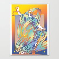 justice Canvas Prints featuring Justice by David Chestnutt