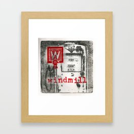 W is for windmill Framed Art Print