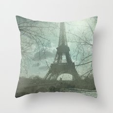 Monday in Paris Throw Pillow